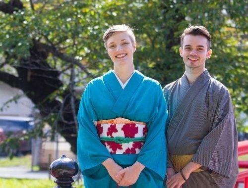 (Japanese) 米沢織の着付け体験!2部式着物で上杉神社周辺を散策!